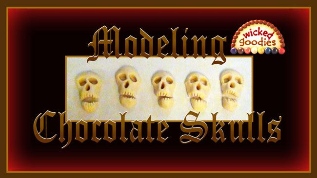 Fantastic video on how to model chocolate skulls.