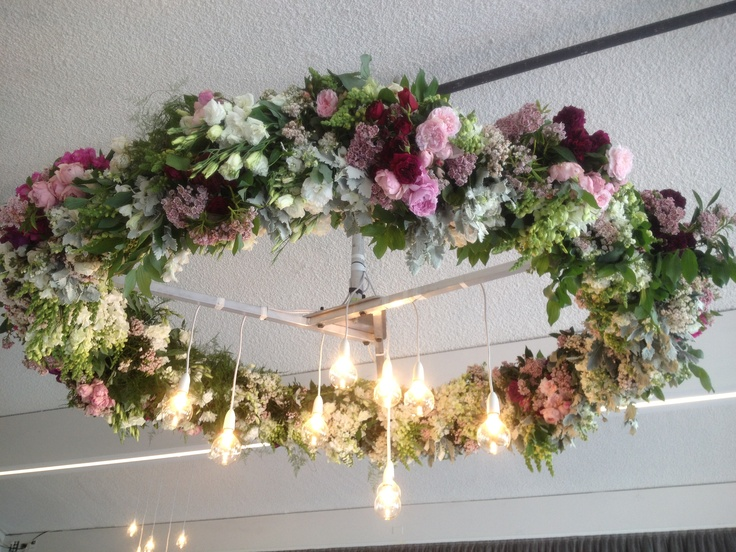 floral installation #flowers #lighting