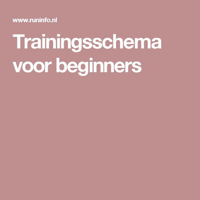 Trainingsschema voor beginners