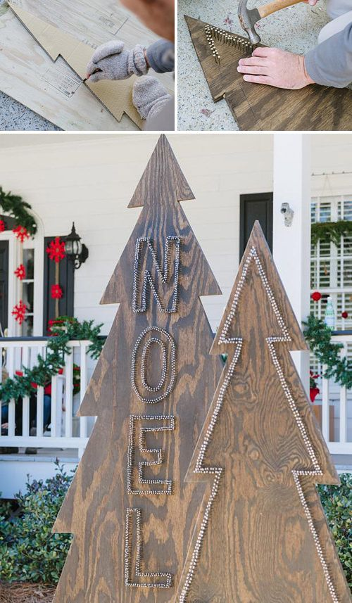 DIY Front Yard Christmas Decorating Projects | The Garden Glove. These would be perfect in my front yard! Now i just have to concince my husband to make them.