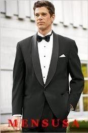 Alta Calidad de masculino Un Esmoquin de Mantón de botón Hecho de Estambre Lana de Vergin