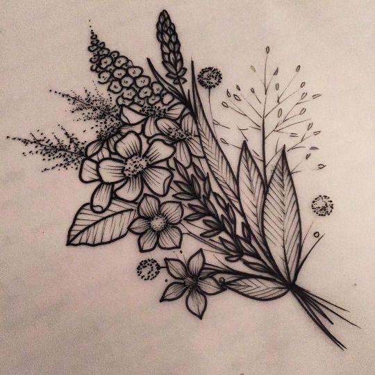 Rebecca Vincent. Gorgeous little floral tattoo idea. I love it