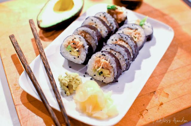 Reckless Abandon: Spicy Crab Sushi Rolls