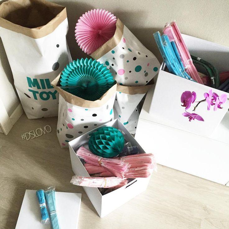 Эко-мешки для игрушек и бумажный декор.