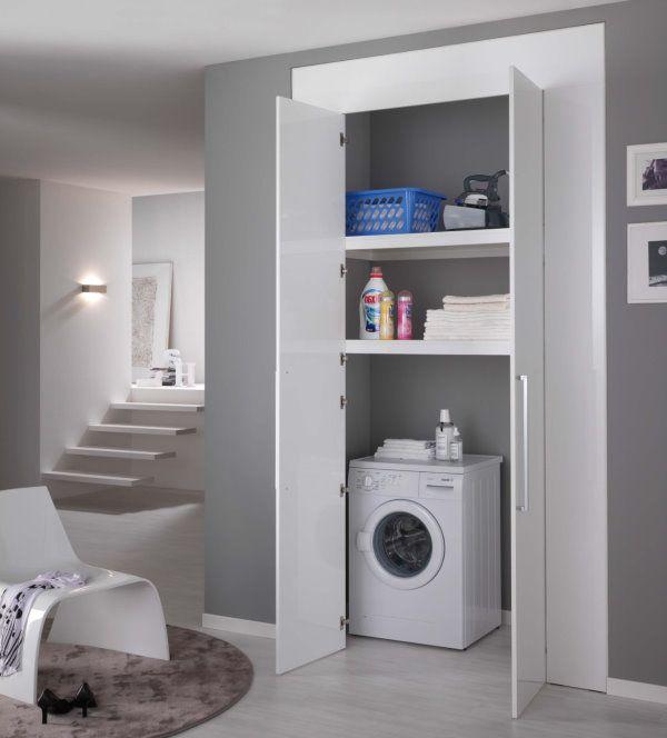 Super Oltre 25 fantastiche idee su Armadi lavanderia su Pinterest  ST25