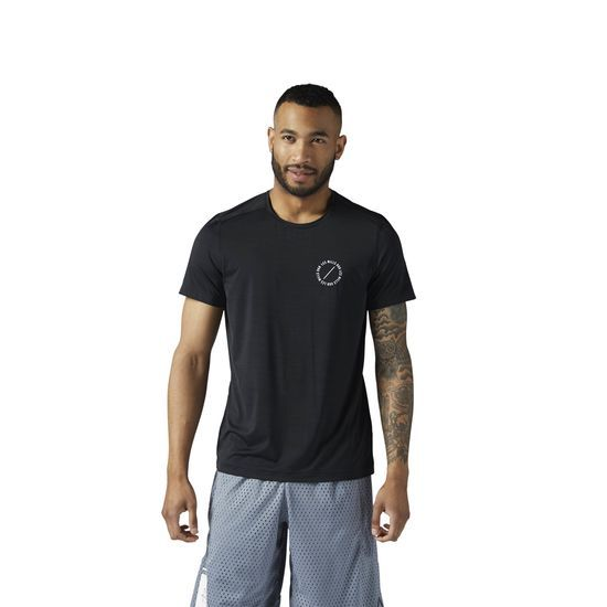 Reebok - LES MILLS ACTIVCHILL Tee: From the studio to the street, take this with this LES MILLS t-shirt with you. Enhanced breathability keeps you cool during any class so you can focus on your workout.