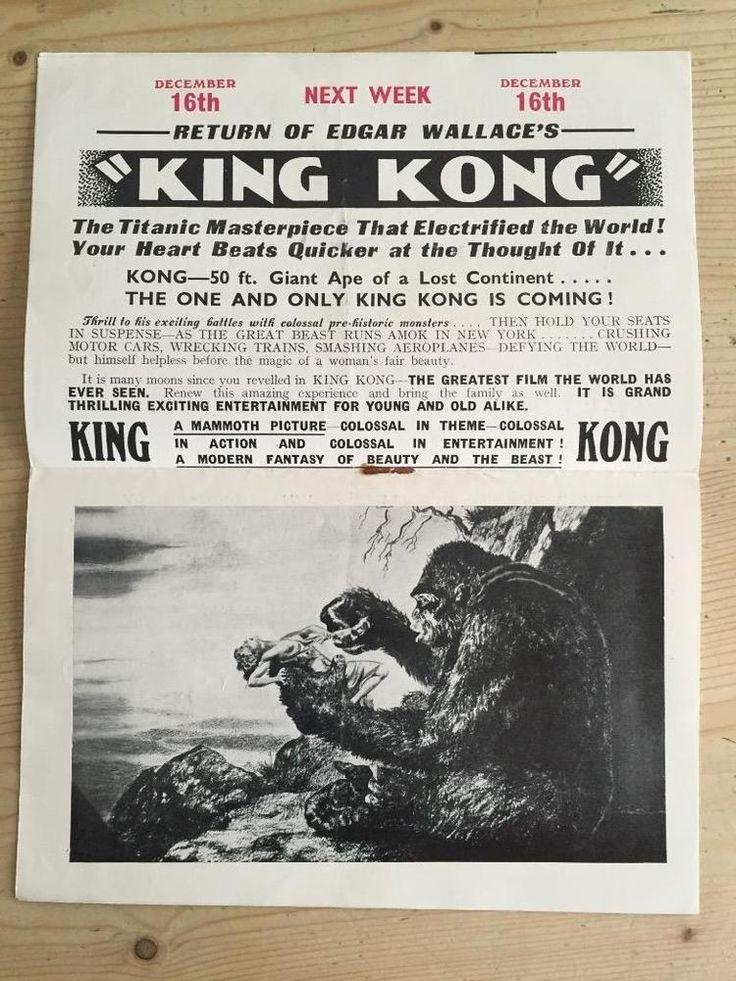 Rare 1935 Picture Theatre Cinema Brochure King Kong Will Hay Gordon Harker