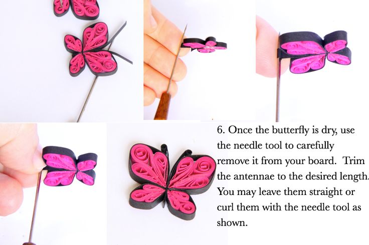 Great introduction to quilling - learn how to make these cute butterflies - perfect as earrings, for greeting cards and decorations.