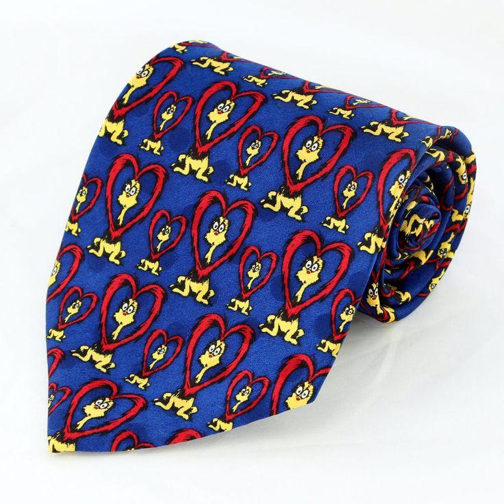 new dr seuss proo love mens necktie ran zoo heart valentines gift silk neck tie - Valentine Ties