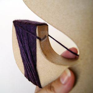 Wrapping letters with yarn tutorial