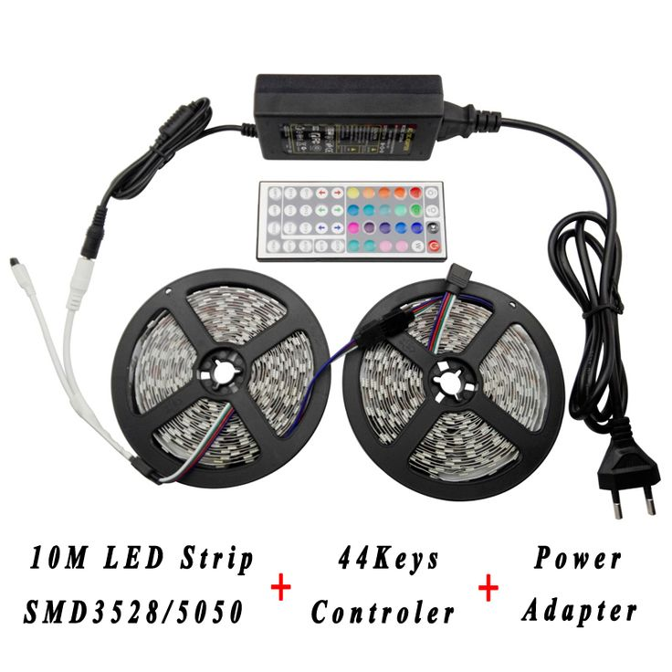 Find More LED Strips Information About LED Lighting Strip Set 12V Power  Adapter Supply 44keys RGB Amazing Ideas