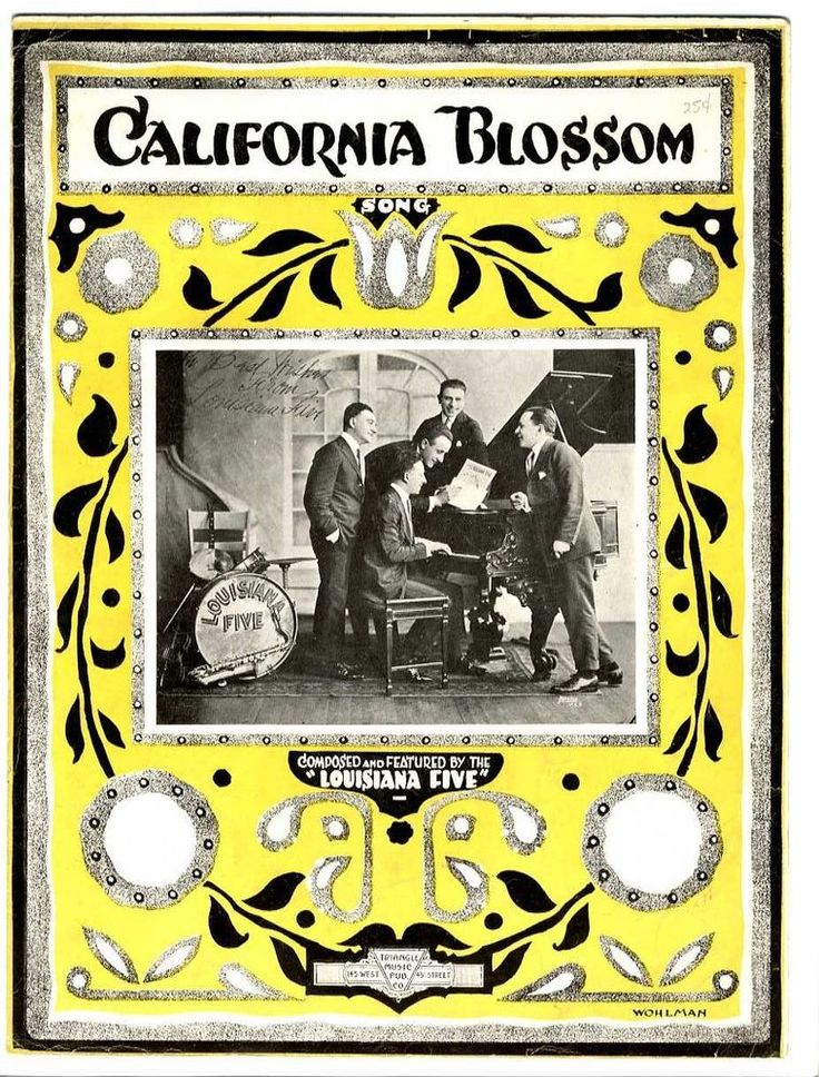 BLACK COMPOSER BLUES JAZZ Sheet Music 1920 California Blossom SPENCER WILLIAMS