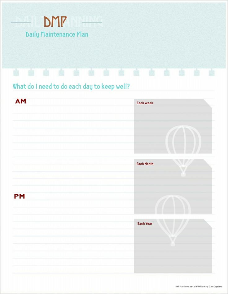 45 best Wellness Recovery Action Plan images on Pinterest - health plan template