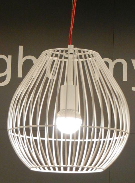 wire frame pendant frankfurt light building 2014