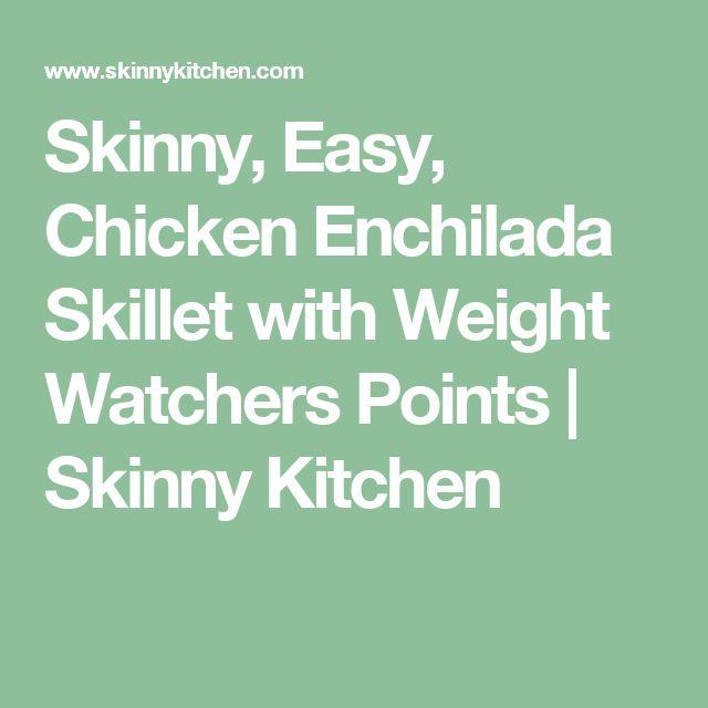 Skinny, Easy, Chicken Enchilada Skillet with Weight Watchers Points | Skinny Kitchen