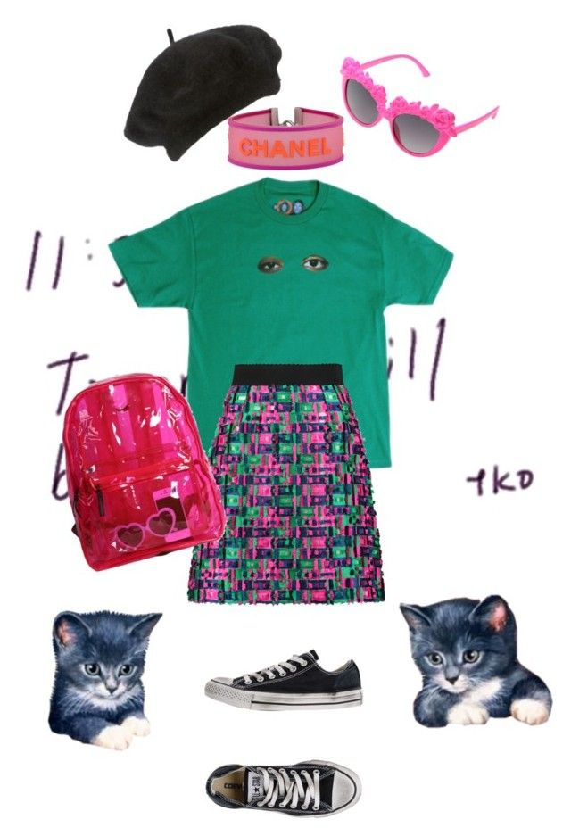 """Random 3"" by alklncirem on Polyvore featuring moda, Ødd., Dolce&Gabbana, John Lewis, Converse, Betsey Johnson ve Chanel"