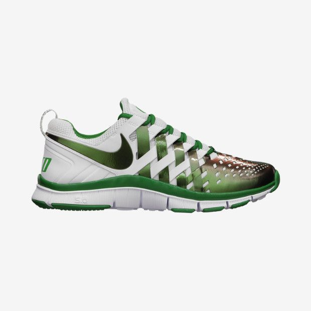 nike free trainer 5.0 oregon apple green\/white bike