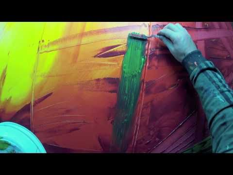 Learn How to Paint Abstract Painting with Acrylics video Abstract acrylic painting Demonstration video from beginning to end. HD Video 1080p Title : Vitalba Size : 200X80cm (5 - 80X40cm) Shot with gopro and Canon 550D Please subscribe and thank you for watching! If you have questions, ask me in the comments ;) Music : by me John Site web : h...