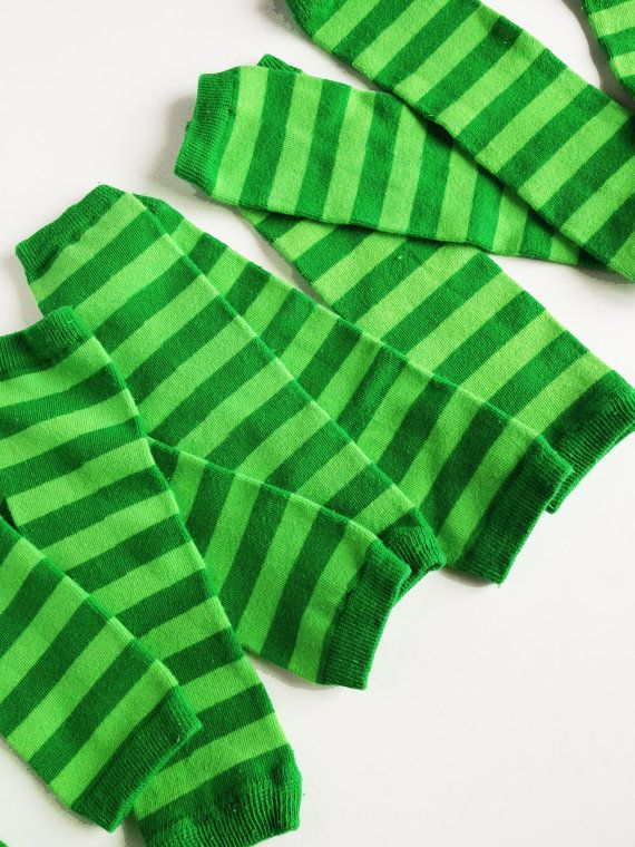 Green Baby Leg Warmers  Kelly Green and Lime Green by kakabaka