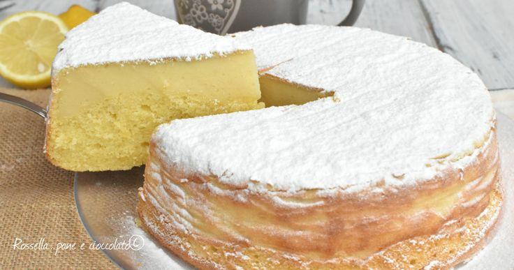 Ecco una Torta Magica al limone e ricotta CHE NON SA DI UOVA, http://blog.giallozafferano.it/ricettepanedolci/torta-magica-al-limone-e-ricotta/