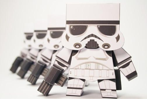 Star Wars - Imperial Stormtrooper (Cubefold) Free Paper Toy Download - http://www.papercraftsquare.com/star-wars-imperial-stormtrooper-cubefold-free-paper-toy-download.html#StarWars, #Stormtrooper