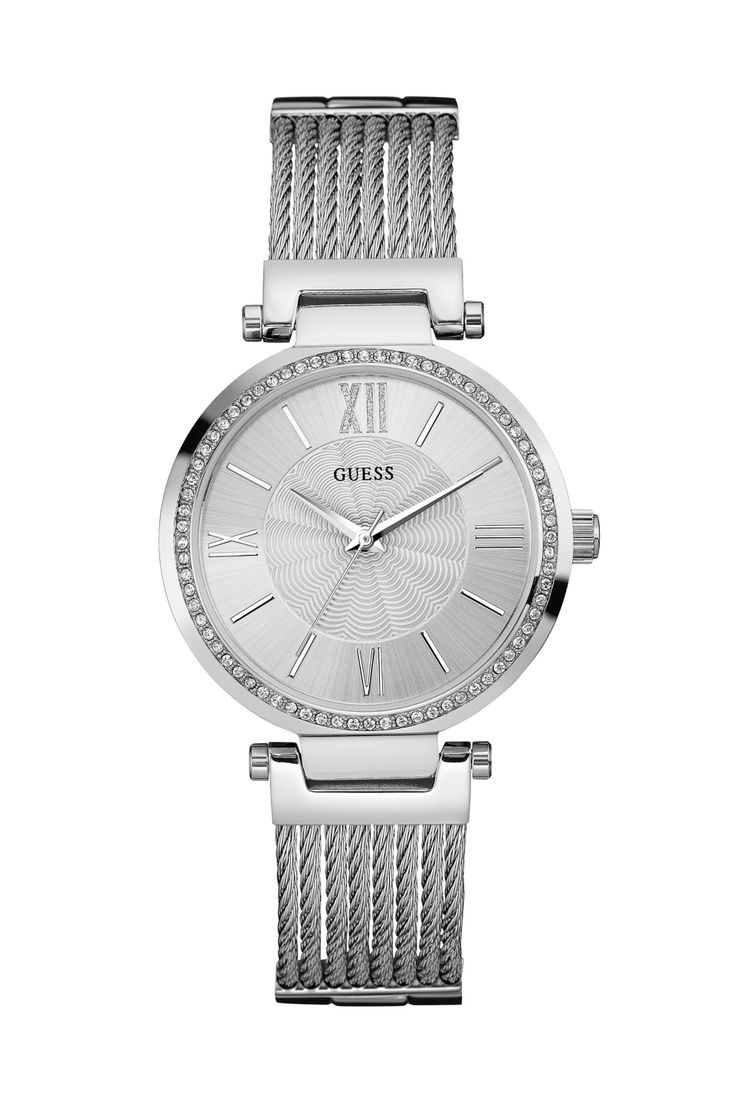 Silver-Tone Feminine Watch | GUESS.com #GUESSWatches