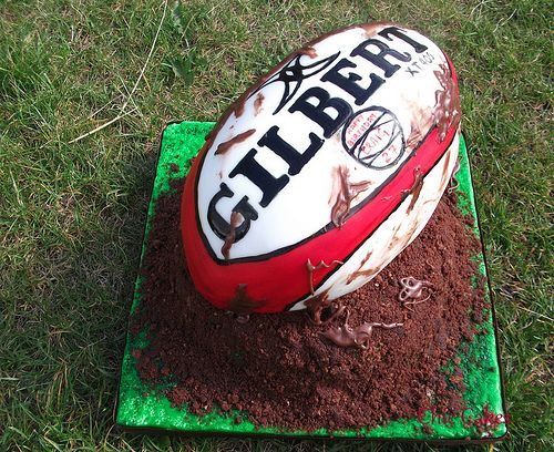 Another Rugby Ball Cake - For all your cake decorating supplies, please visit craftcompany.co.uk