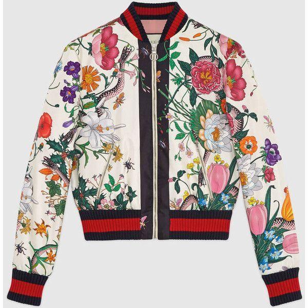 gucci silk-satin printed bomber jacket | ... bomber jacket rare vintage japanese sukajan souvenir bomber jacket jcr