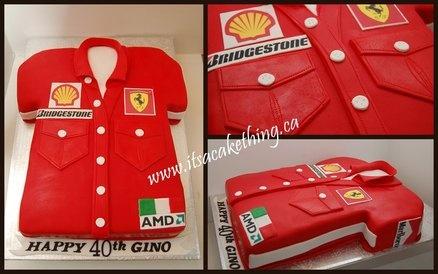 Ferrari lover's Formula 1 Shirt  Cake by itsacakething