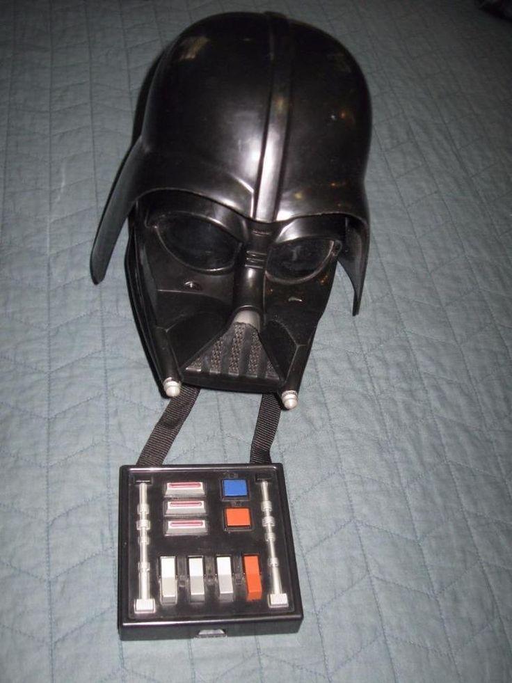 Darth Vader Voice Changer Helmet Full Mask Star Wars Lucas Film 2004 Original