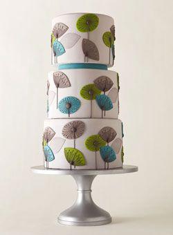 Multicolor umbrella cake