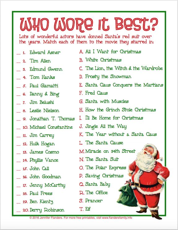 This is a photo of Luscious Free Printable Christmas Games With Answers
