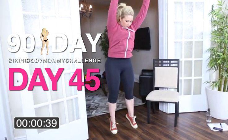 Fitness Test again, same as day 1 DAY 45 | Bikini Body ...