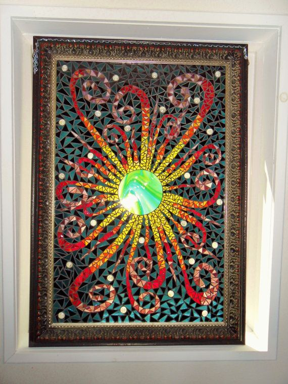 Black Sun Mosaic by StayCsStainedGlass on Etsy, $875.00