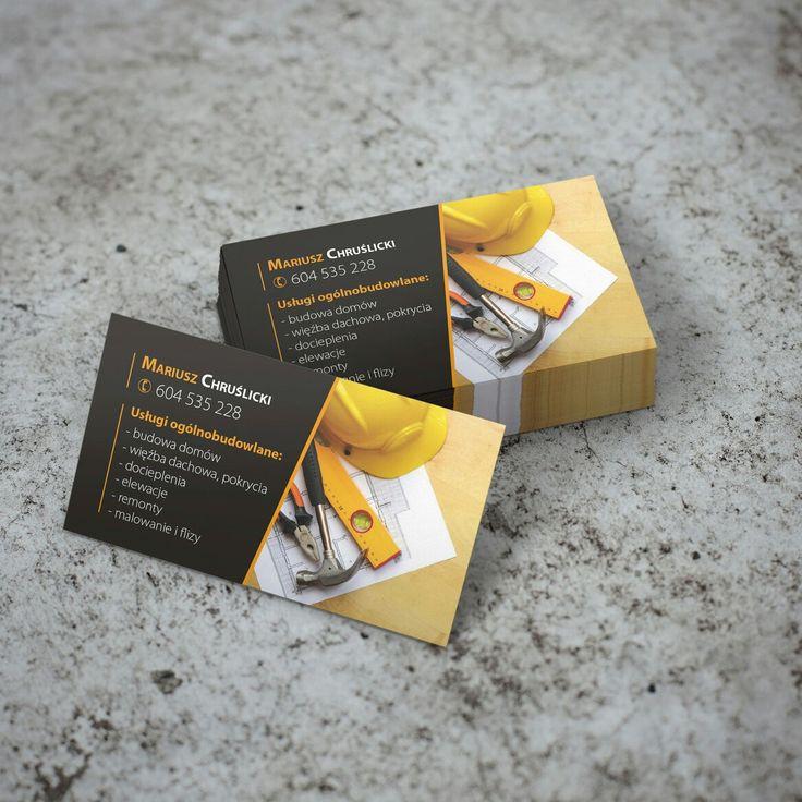 Projekt wizytówki dla firmy budowlanej