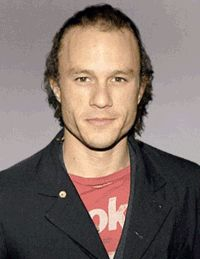 Heath Ledger turning into the Joker; This is  a cool gif.