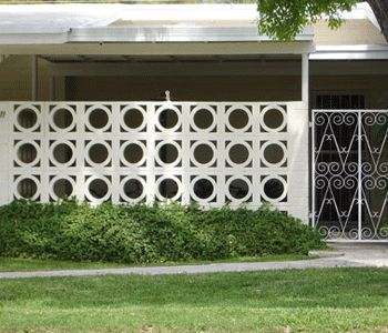 Examples of screen wall blocks, used indoor or outdoor. Adding a beautifully different touch to any project.
