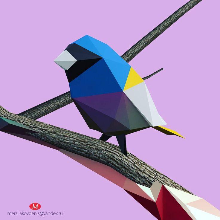 4 отметок «Нравится», 1 комментариев — мерзляков (@denismerzliakov) в Instagram: «#lowpoly #3dmodel #model #art #polygon #cinema #bird #animal #nature #work #4d #character #cartoon…»