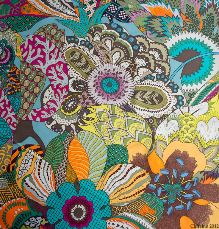 Fleurs d'Indiennes by Aline Honore | Hermes Scarves | http://imcaffeine.blogspot.com.br/2012/01/my-hermes-scarves-90cm.html