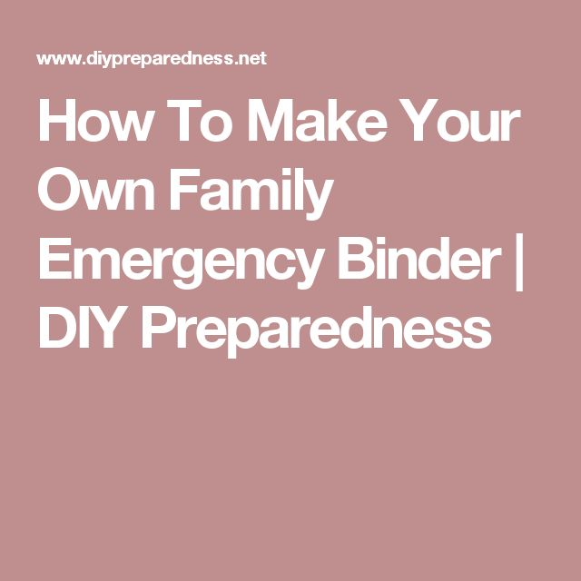 How To Make Your Own Family Emergency Binder | DIY Preparedness