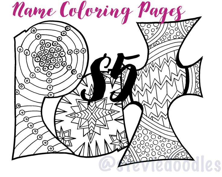 228 best name doodles images on pinterest doodles coloring custom name coloring pagesname printable coloring pages