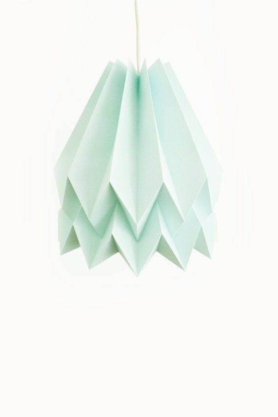 Plain Mint Blue  with Cord Set  Handmade Origami by blaanc on Etsy, €50.00