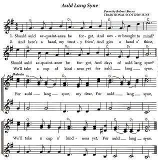 'Auld Lang Syne' Lyrics and Sheet Music for the Traditional Scottish Folk Song from the Poem by Robert Burns