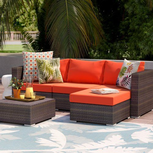 Asther 5 Piece Sectional Seating Group With Cushions Seating Groups Outdoor Sectional Sofa Beachcrest Home