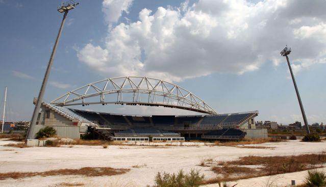Le stade de beach volley ne sert plus depuis les JO d'Athènes de 2004.