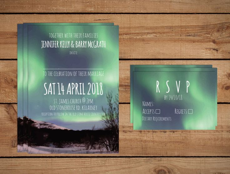 Northern Lights Wedding InvitationsWedding Invitations to start your exciting adventure together