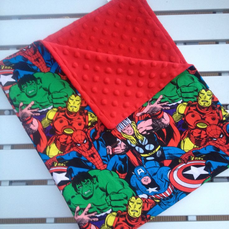 Marvel Comics  Baby Blanket, Personalized Baby Blanket, Minky Blanket, Minky Baby Blanket,Superhero Blanket, Custom Made Baby Blanket by SouthernSewnDesigns on Etsy