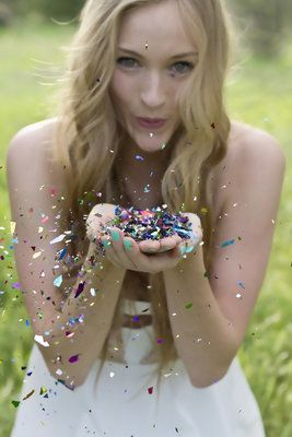 I have to have at least one picture with glitter in it.... :)