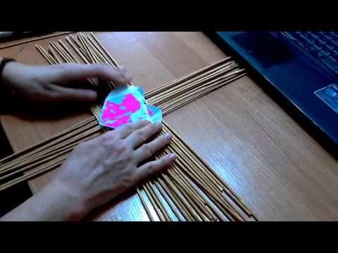 Очень необычная плетеная корзинка в форме сердца | oblacco