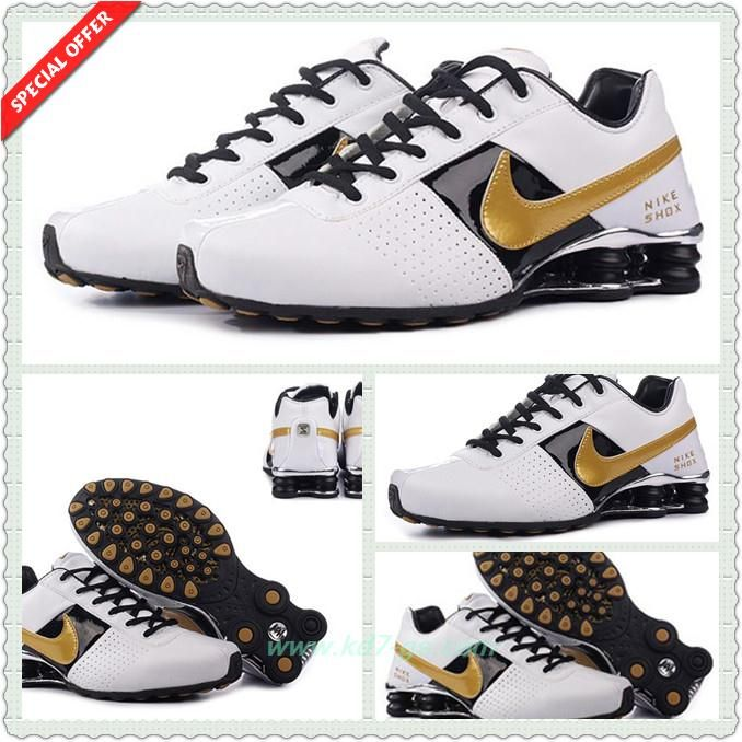 Discount Shoes Online White Black Golden OZ-015 Nike Shox OZ-D